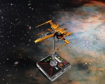 Custom Painted Star Wars X-Wing Miniature Rebel Sun Runner Squadron T-70