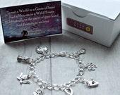 William Blake Bracelet Auguries Of Innocence  Sterling SilverSilver Plated Eternity Gift  Literary Gift Poetry Gift  Book Lover Gift