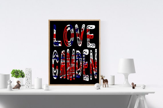 Camden, Love Sign, Love Signs, Love Print, Love Prints, Art Print, Art Prints, Wall Prints, Wall Art, Digital, Prints, Print Wall Art