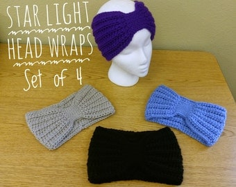 Star Light Head Wraps - Set of 4/Made to Order