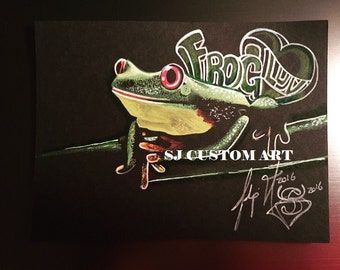 """At the end of the day it's all about the Frog Luv-4"""" x 6"""" mini prints"""