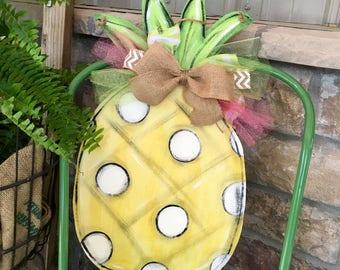 Pineapple Door Hanger - Door Hanger - Summer Door Hanger - Tropical Door Hanger - Pineapple Sign - Pineapple Decor - Pineapple Door Decor