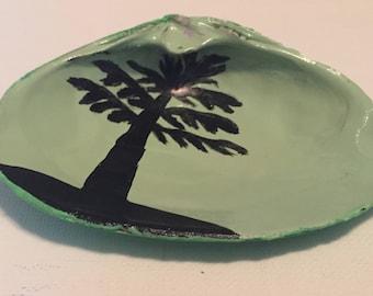 Sea Foam Green Palm Tree Shell