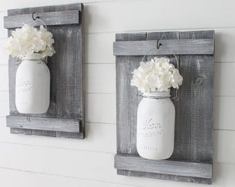 Rustic Farmhouse Mason Jar Sconce