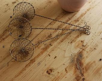 Vintage Wire Egg Basket