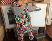 Hooded Onesie , ***WITH POPPERS *** Available in All Fabrics ,