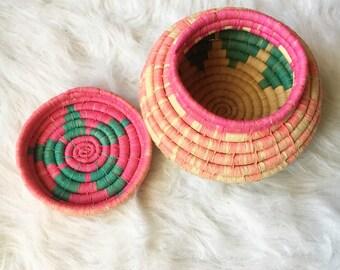Vintage Basket with Lid