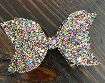 Glitter fabric bows