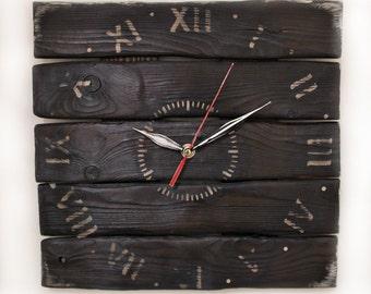 Geometric  clock - Wood clock  - Modern clock - Geometric clock - Wall wooden clock - Office wall clock  - Wood natural -Plain clock
