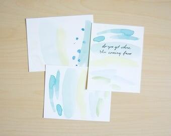 Blue Painted Postcards