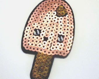 Ice Lolly Popsicle Sequinned Iron on Patch - H420