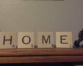 Large Scrabble Letters • Home • Home Decor • Giant Scrabble Tiles • Large Wood Tiles • honour