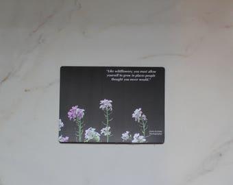 Flower Photo Magnet