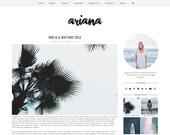"Premade Blogger Template Responsive Design - Blog Design ""Ariana"" - Instant Download - Graphic & Web Design"