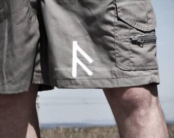 Ansuz Aesir Deity rune  on men's shorts