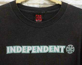 Vintage 90's INDEPENDENT Truck Company Shirt Black Flag T-Shirt Large