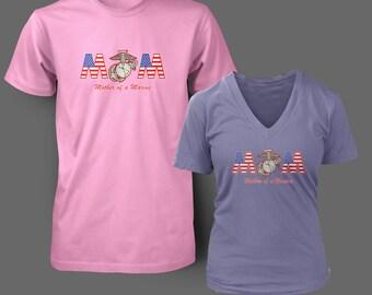 MOM Marine Corps t shirt