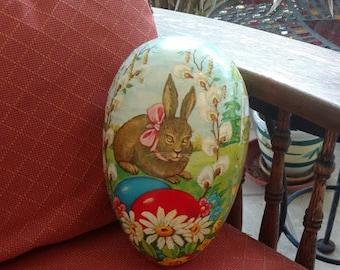 Large Vintage Paper Mache Easter Egg