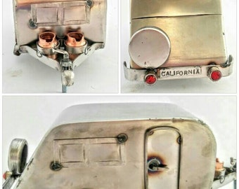 Camper Trailer Sculpture