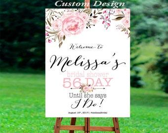 Bridal Shower decoration, Bridal Shower Welcome Sign, Bridal Shower sign, PRINTABLE Welcome sign, Bridal shower welcome sign, BSWS3