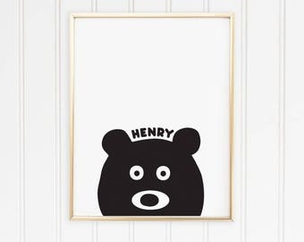 Personalised Childs/baby Bear Print