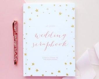 Wedding planner book, engagement gift, wedding scrapbook, gift for brides, wedding checklist, wedding organizer, keepsake wedding book