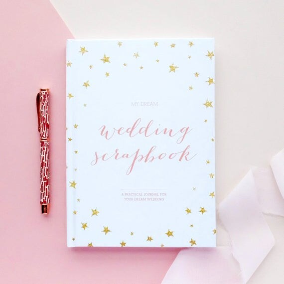 Wedding Planner Gifts: Wedding Planner Book Engagement Gift Wedding Scrapbook Gift