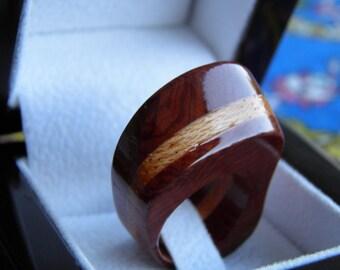 Juniper Tree Wooden Ring Genuine Handcrafted