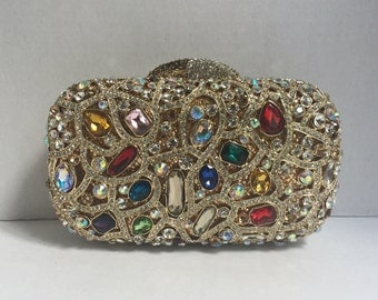 Crystal and Stone Clutch