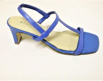 NOS - Vintage Slingback Lavendar Sandals by Bijou - Size 6M