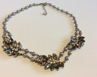 Vintage NWT Rhinestone Necklace