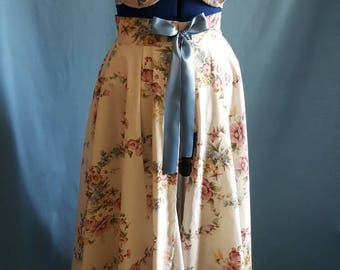 Floral lingerie and skirt