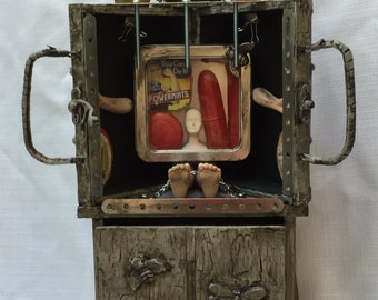 Altered art, modern assemblage sculpture