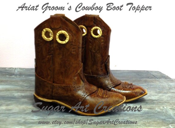 Custom Ariat Handmade Sugar Paste Gumpaste Cowboy Boots