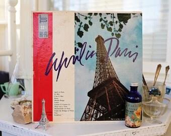 April in Paris Promenade Records Les Petits Chaux Trio vinyl record vintage wall decor French Spring whimsical home decor vintage cool