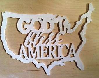 God Bless America Sign