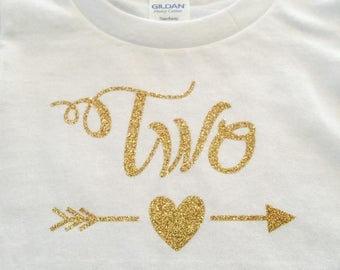 Girls two year old Birthday shirt/Girls Personalized birthday shirt/2/3/4/5/Tribal heart arrow