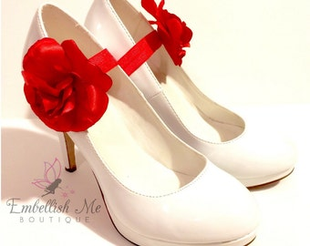 High Heels Accessories, Red Rose Shoes, Ankle Strap