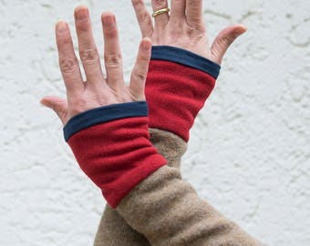 """Arm warmers """"Rosehip"""" Upcycling fed"""