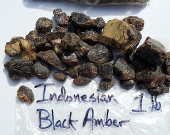 Indonesian Black Amber, 1 lb. lot
