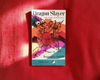Rosemary Sutcliffe - Dragon Slayer: The Story of Beowulf (Puffin Books 1968) illustrated by Charles Keeping
