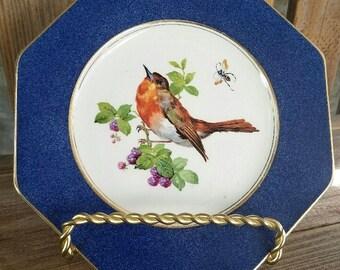 Wedgwood c. 1900 Hexagonal Robin Plate