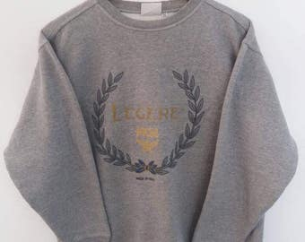 Legere by MCM big spellout logo pullover made in italy sweatshirts