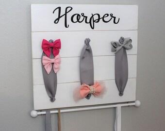 Hair Bow Holder| Hair Bow Organizer|Headband Holder|Headband Organizer|Shabby Chic Bow Holder| Shabby Chic Nursery Decor