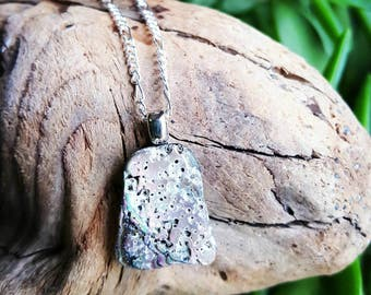 Lost Coast Abalone Collection Silver Charm Necklace