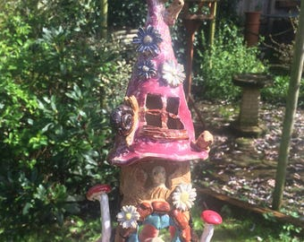 mugloo. Gnome fairy home. Tealight holder, made to order personalised items available