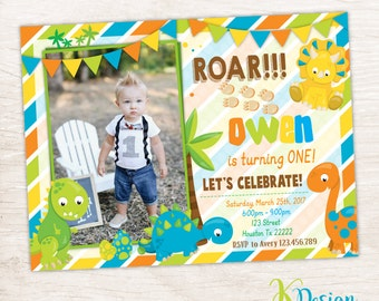 Dinosaur Birthday Invitation, Boys Birthday Invitation, Dinosaur Invitation