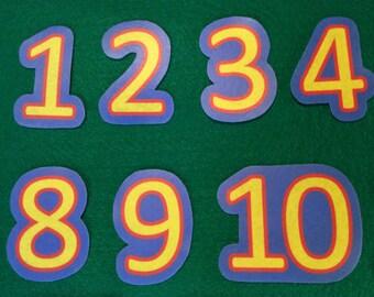 Felt stories numbers 1-20// numbers educational gift toys//felt stories math//felt stories counting// flannel numbers// flannel stories math