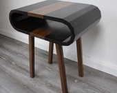 Side Table  End Table  Bedside Table  Loop Table  Solid Wood  Black Walnut and Exotic Wenge