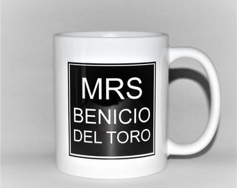 Mrs Benicio Del Toro mug gift for her mug birthday gift for mum birthday gift for aunt mug for mother's day